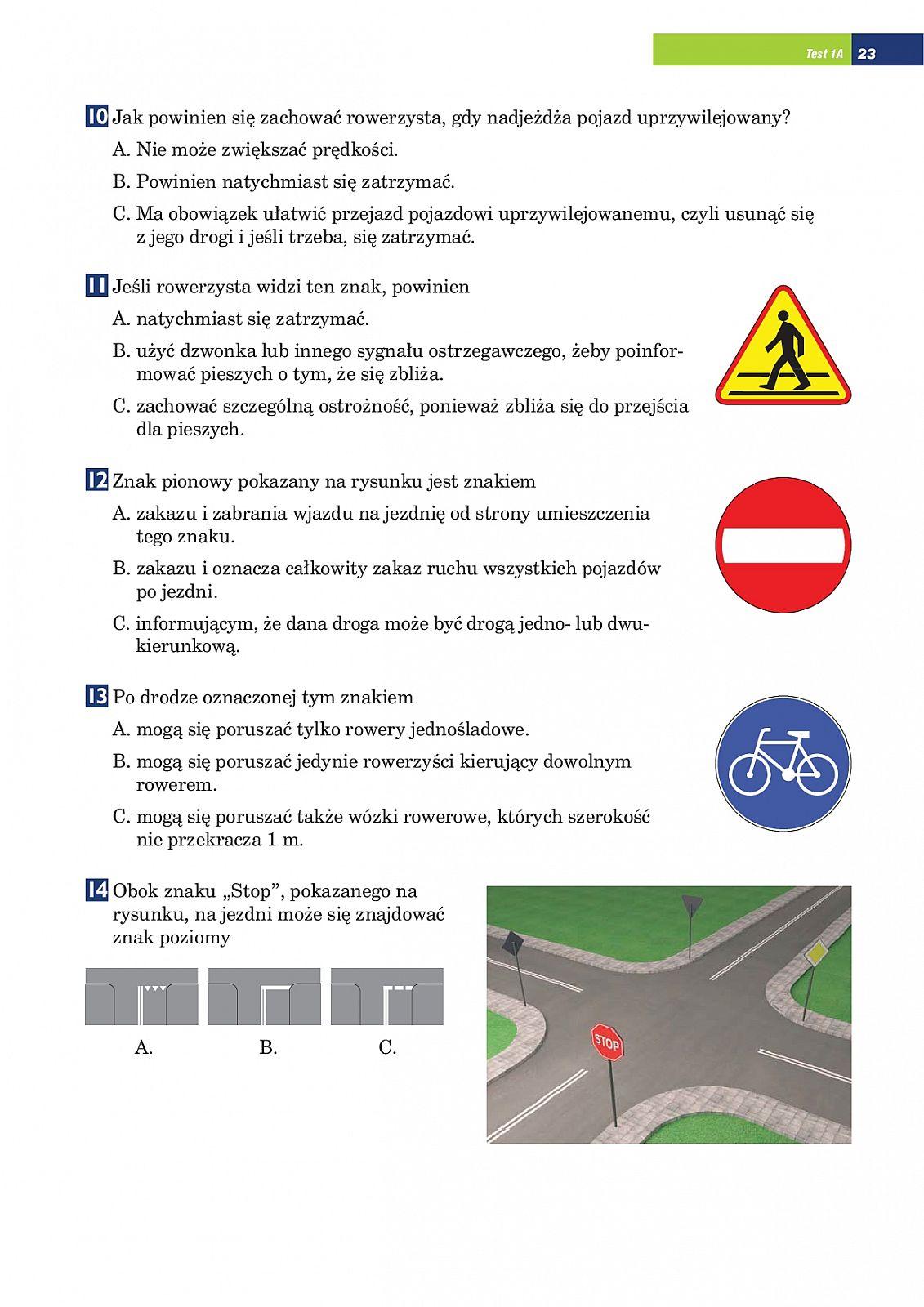 testy na karte rowerową do rozwiązania